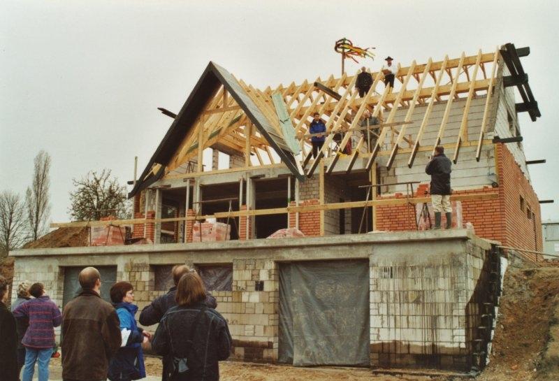 Richtfest der Villa 2000
