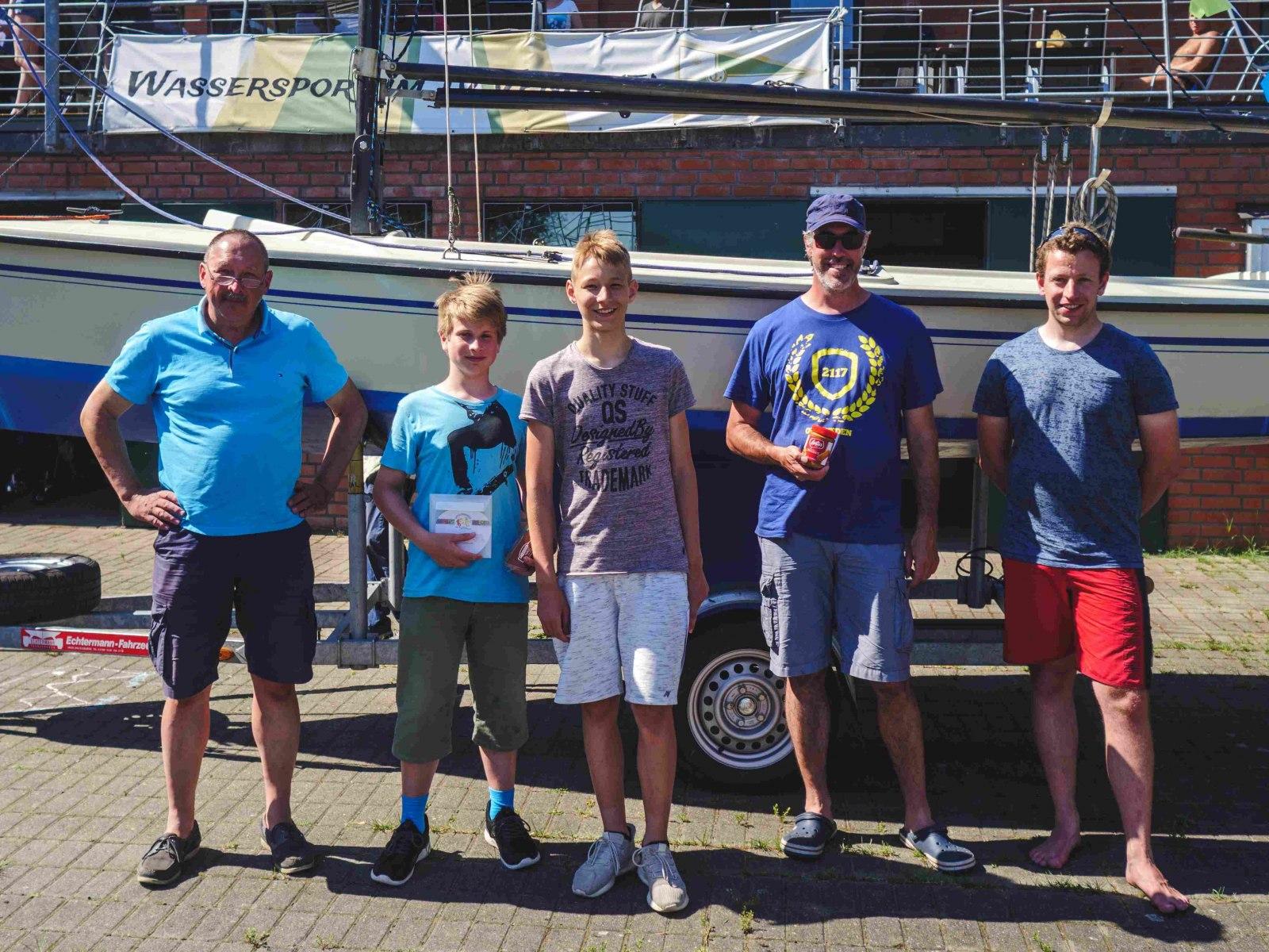 Siegerfoto: (vl) Horst Dobrinski, Ben Zimmermann, Paul Kaatz, Rene Daniels , Jan Schappert