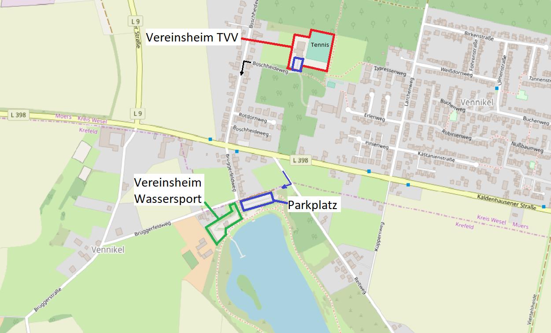 Vereinsheim TVV - Vereinsheim WSA
