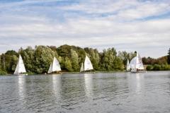 Zweimannboote im Wettkampf