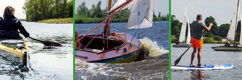 Kajak, Segeln und SUP am Elfrather See